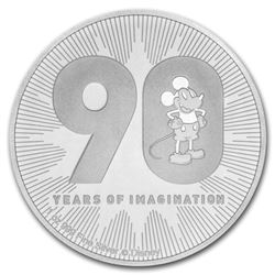 2018 $2 Disney Mickeys 90th Anniversary Niue Silver Coin