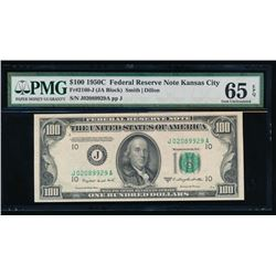 1950C $100 Kansas City Federal Reserve Note PMG 65EPQ