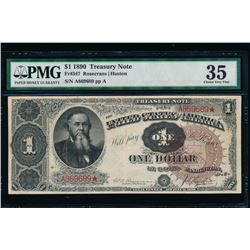 1890 $1 Treasury Note PMG 35