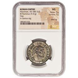 Ancient Roman Empire 286-310 AD Maximian Nummus Coin NGC MS