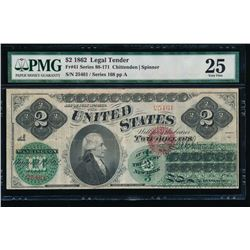 1862 $2 Legal Tender Note PMG 25