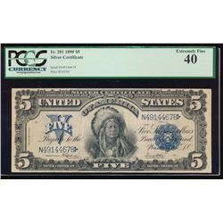 1899 $5 Chief Silver Certificate PCGS 40