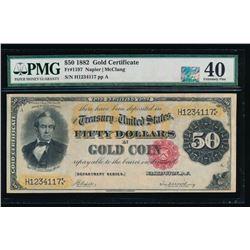 1882 $50 Gold Certificate PMG 40