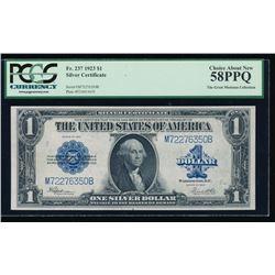 1923 $1 Silver Certificate PCGS 58PPQ