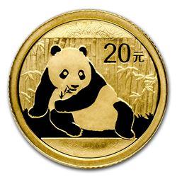 2015 China Panda 1/20 oz Gold Coin