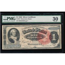 1886 $1 Martha Washington Silver Certificate PMG 30