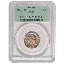 1927-D Buffalo Nickel PCGS MS63
