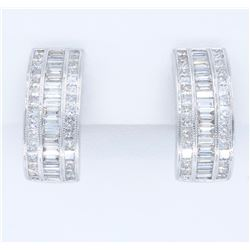 18KT White Gold 4.00ctw Diamond Earrings