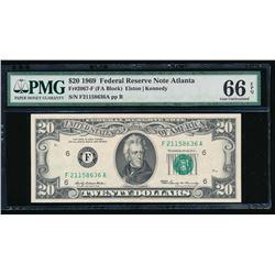 1969 $20 Atlanta Federal Reserve Note PMG 66EPQ