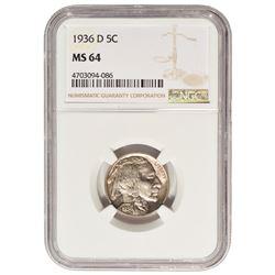 1936-D Buffalo Nickel NGC MS64