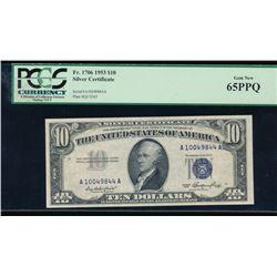 1953 $10 Silver Certificate PCGS 65PPQ