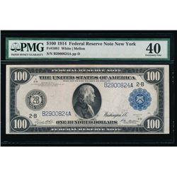 1914 $100 New York Federal Reserve Note PMG 40