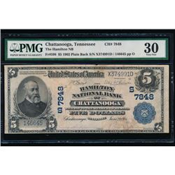 1902 $5 Chattanooga National Bank Note PMG 30