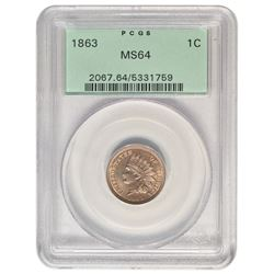 1863 Indian Cent PCGS MS64