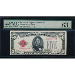 1928A $5 Legal Tender Note PMG 63