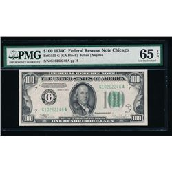 1934C $100 Chicago Federal Reserve Note PMG 65EPQ