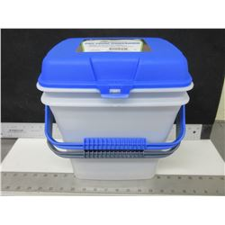 2 New Pet Solutions Pet Food Storage Containers / keps food fresh & pests out.