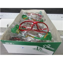 Bundle of 7 New Clear Safety Glasses / over 85.00 worth in store.