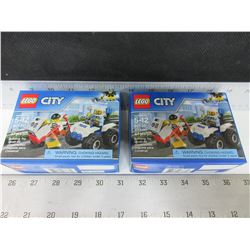 2 New LEGO City Building Kits / ATV Police