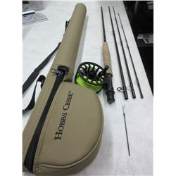 White River Hobbs Creek Fly Rod / Reel & Case / NOTE: Tip is broke from