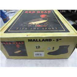 """Red Head Mallard - 5"""" Waterproof size 12 / NOTE: right boot pull tab is torn"""