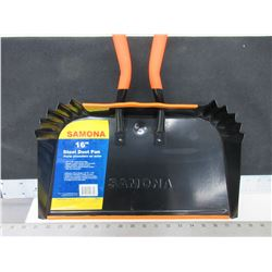 New Large Samona 16inch Dustpan /Excellent for Shop & Garage /wide HD