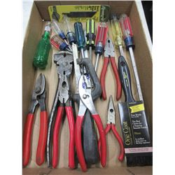 Flat full of Assorted Tools / Pliers , Cutters , Fencing Pliers Hacksaw and more