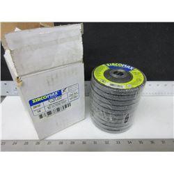 "New ZircoMax 4-1/2"" Flap Disks case of 10 / high density premium ZA80 grit"