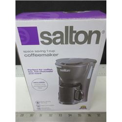 New Salton 1 cup Coffeemaker / comes with Mug & permanent Filter