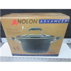 New Anolon Advanced 4.3 liter Covered tapered Saucepot / hard anodized