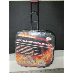 New BBQ / Campfire Hamburger Basket / easily flip 4 at once