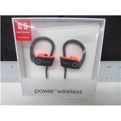 New G5 Sports Power 3 Wireless Earphones with Mic and more