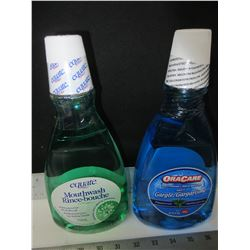 2 New Mouthwash / original mint 750ml  and Peppermint 1 liter