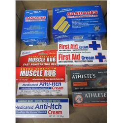 New First Aid Bundle / Bandaids and Creams / great value lot