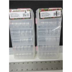 2 New Bead Storage Systems / each includes 28 stackable clear boxes