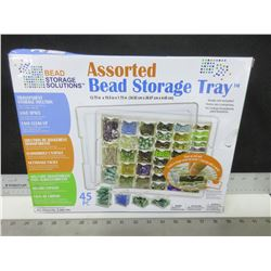 New Assorted Bead Storage Tray / 45 piece