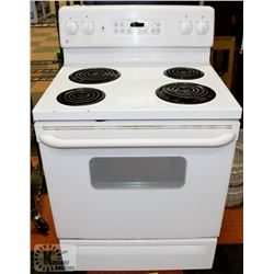PREVIOUSLY ENJOYED GE COIL TOP STOVE WITH SELF CLEAN