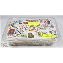 2 POUNDS OF WORLD STAMPS - MOST ARE