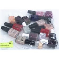 BAG OF ASSORTED NAIL POLISH