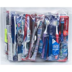 BAG OF ASSORTED TOOTHBRUSHES WITH POLYGRIP &