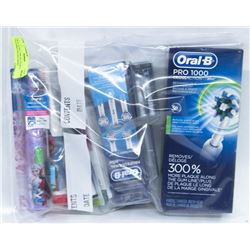 ORAL-B PRO 1000 RECHARGEABLE TOOTHBRUSH AND MORE