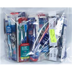 MIXED LOT OF ASSORTED TOOTHBRUSHES
