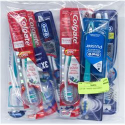 LOT OF 7 MIXED TOOTHBRUSHES