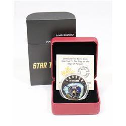 2016 RCM $20 FINE SILVER COIN: STAR TREK -THE CITY