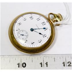 1918 WALTHAM GOLD PLATED POCKET WATCH