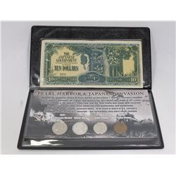 PEARL HARBOR & JAPANESE INVASION COLLECTOR COIN &