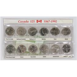 CANADIAN 125 YEAR 12 QUARTER DISPLAY