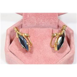 PAIR OF BLACK ALASKA DIAMOND EARRINGS