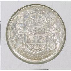 1942 GVI 50 CENT COIN