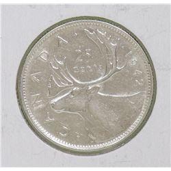 1942 GVI 25 CENT COIN